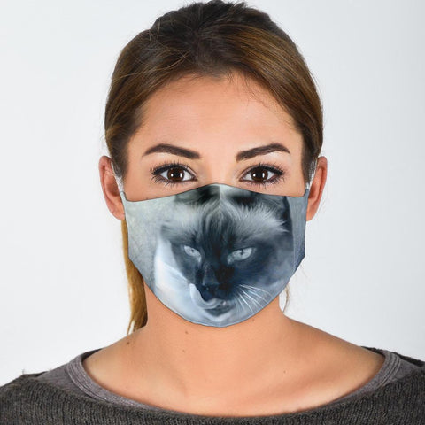 Siamese Cat Print Face Mask
