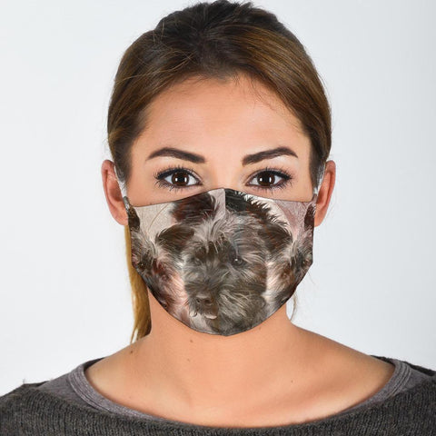 Lovely Cairn Terrier Print Face Mask