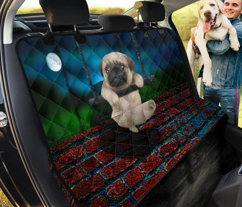 Cute Pug Dog Print Pet Seat covers