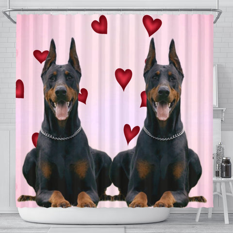Amazing Doberman Pinscher Dog Print Shower Curtain