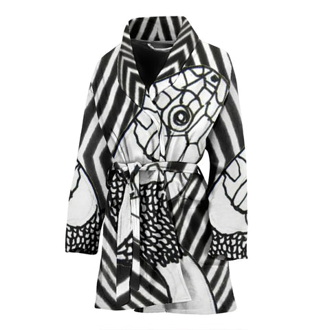Black & White Snake Print Women's Bath Robe