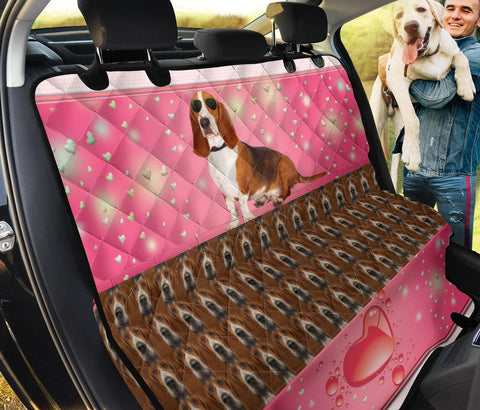 Cute Basset Hound Print Pet Seat covers