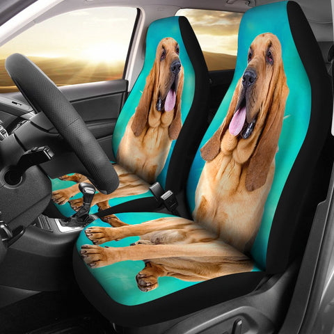 Bloodhound Dog Print Car Seat Covers