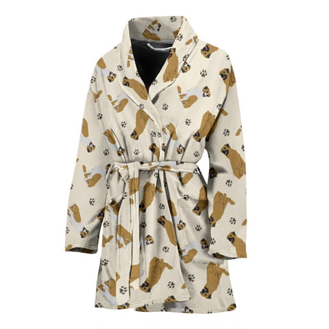 Anatolian Shepherd Dog Pattern Print Women's Bath Robe