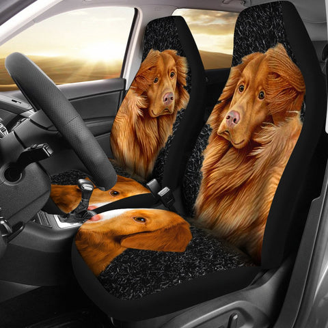 Lovely Nova Scotia Duck Tolling Retriever Dog Print Car Seat Covers