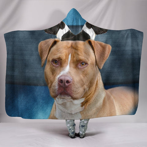 American Staffordshire Terrier Print Hooded Blanket