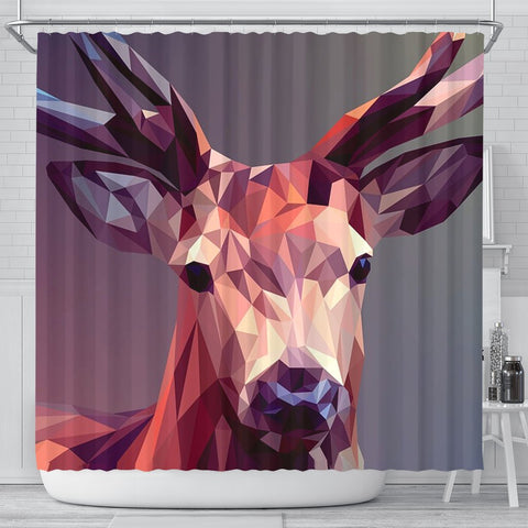 Amazing Deer Vector Art Print Shower Curtains