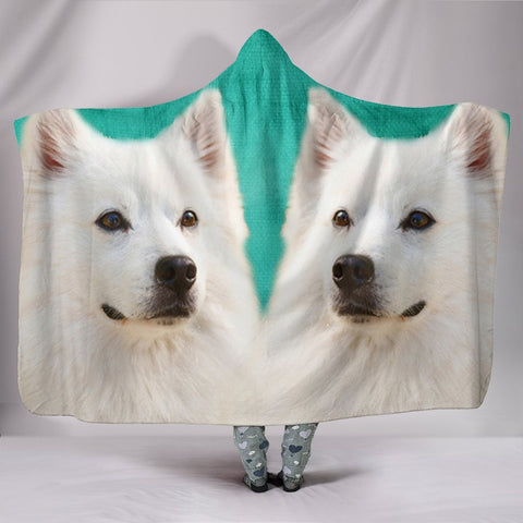 American Eskimo Dog Print Hooded Blanket