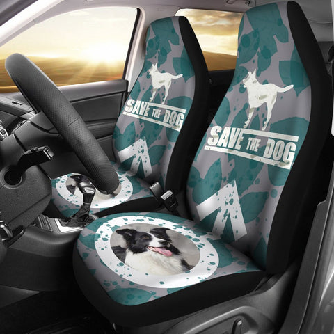 'Save The Dog' Print Car Seat Covers