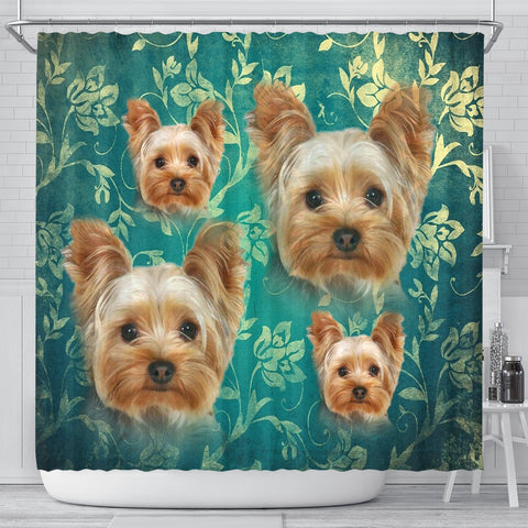 Yorkshire Terrier Print Shower Curtains