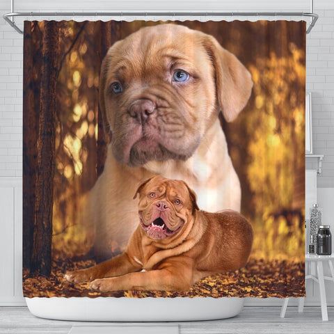 Bordeaux Mastiff Print Shower Curtains