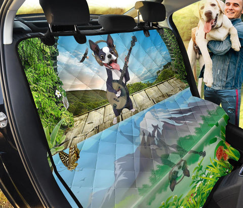 Cute Boston Terrier Print Pet Seat covers