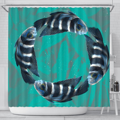African Cichlid Fish Print Shower Curtains