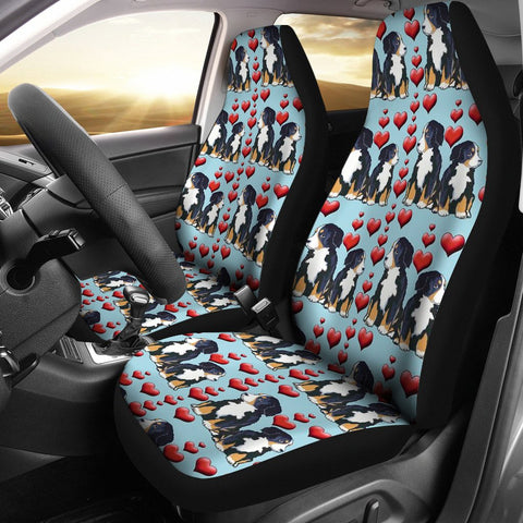 Bernese Mountain Dog Love Print Car Seat Covers