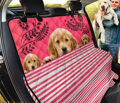 Cute Golden Retriever Print Pet Seat covers