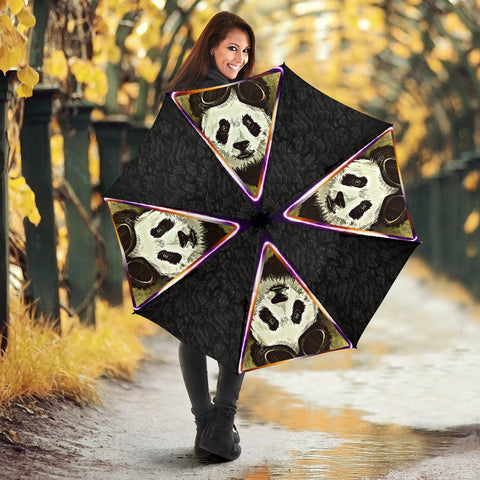 Amazing Panda Art Print Umbrellas