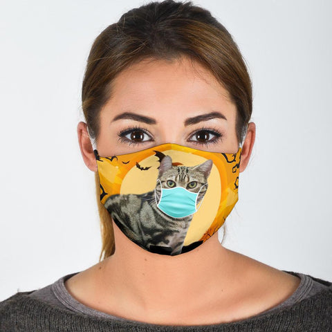 American Shorthair Cat Print Face Mask