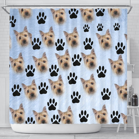 Cairn Terrier Print Shower Curtain