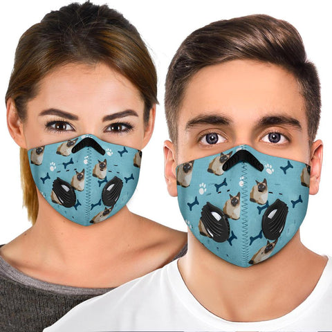 Siamese Cat Patterns Print Premium Face Mask