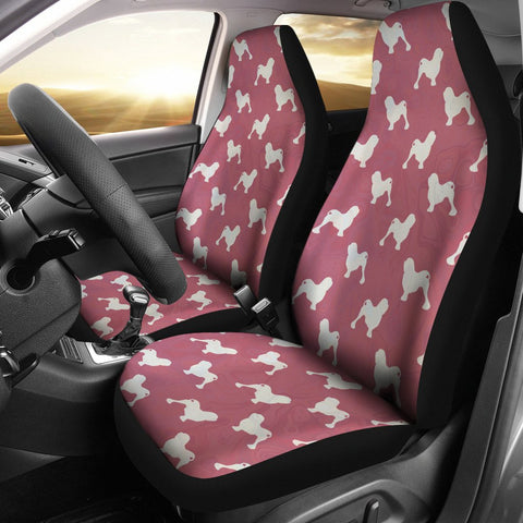 Amazing Lowchen Dog Pattern Print Car Seat Covers