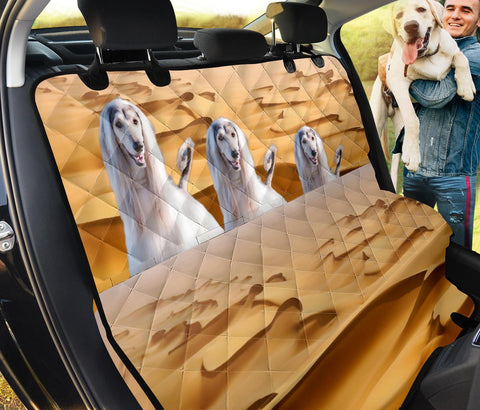 Afghan Hound In Desert Print Pet Seat Covers