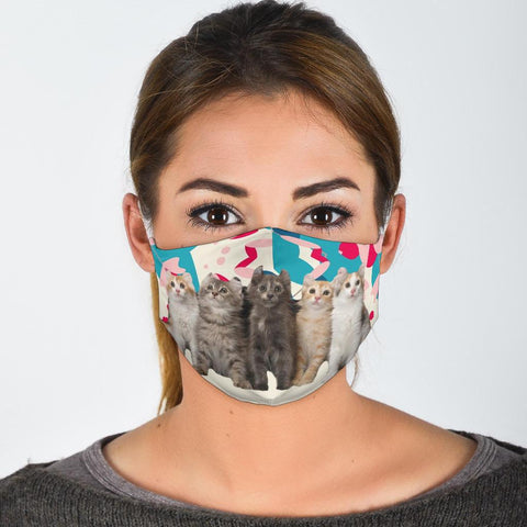 Cute American Curl Cats Print Face Mask