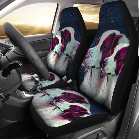 Brittany Dog Art Print Car Seat Covers