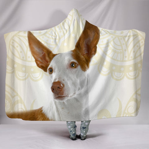 Ibizan Hound Dog Print Hooded Blanket