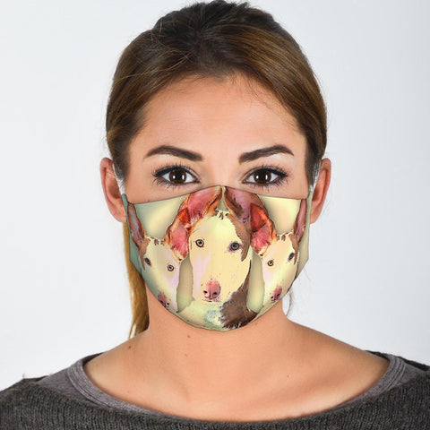Cute Ibizan Hound Print Face Mask