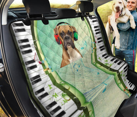 Boxer Dog Print Pet Seat covers