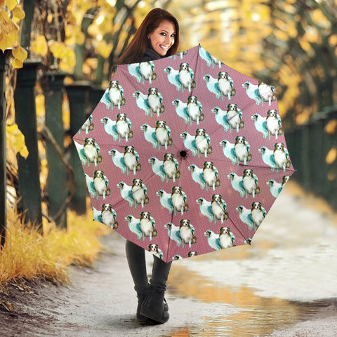 Australian Shepherd Dog Pattern Print Umbrellas