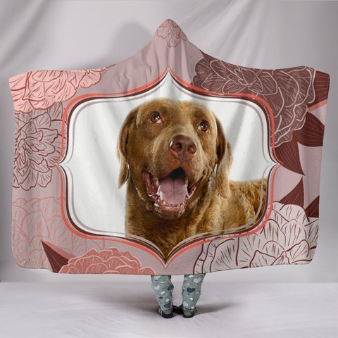 Chesapeake Bay Retriever dog Print Hooded Blanket