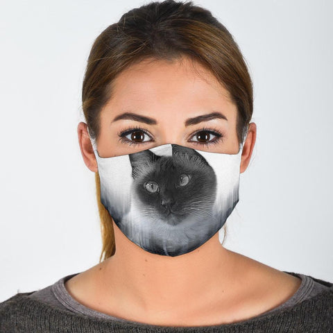 Cute Siamese Cat Print Face Mask- Limited Edition