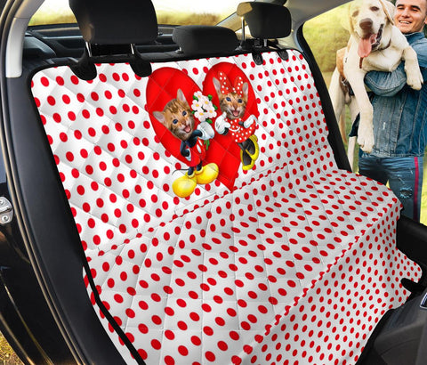 Cute Bengal Cat Print Pet Seat Covers