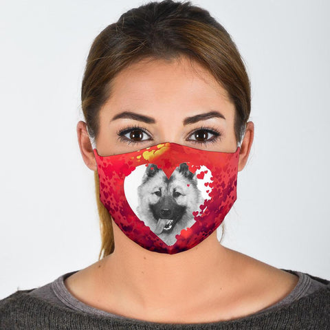 Lovely Norwegian Elkhound Print Face Mask