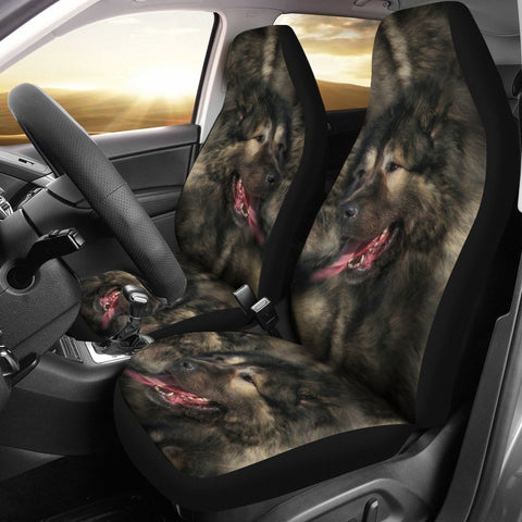 Amazing Caucasian Shepherd Dog Print Car Seat Covers