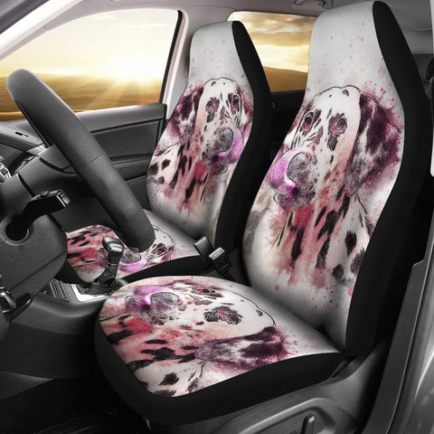 Dalmatian Dog Watercolor Art Print Car Seat Covers
