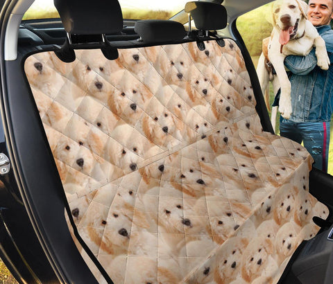 Golden Retriever Print Pet Seat Covers
