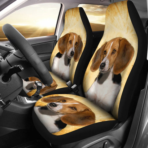 American Foxhound Print Car Seat Covers
