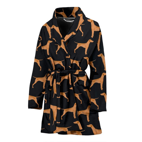 Amazing Vizsla Dog Pattern Print Women's Bath Robe