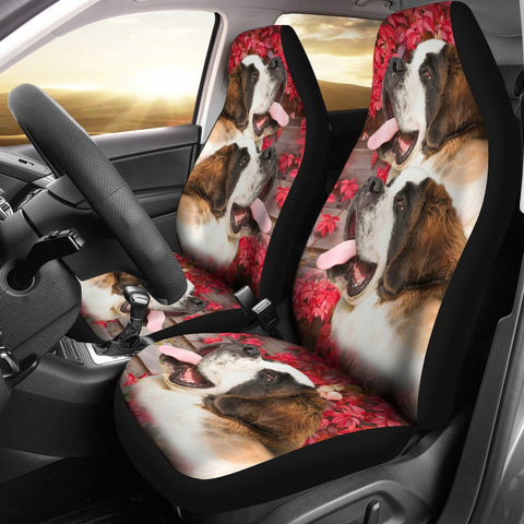Amazing Saint Bernard Dog Print Car Seat Covers