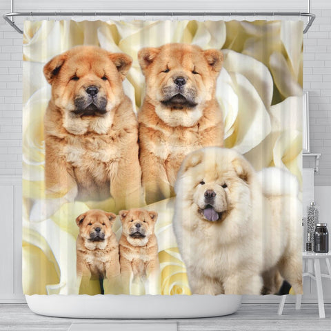 Chow Chow Print Shower Curtains