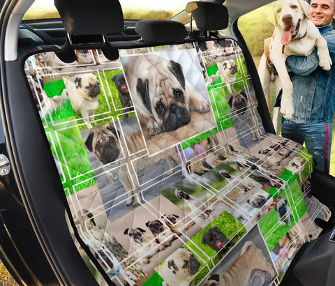Pug Dog Collage Print Car Seat Covers