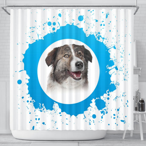 Amazing Aidi Dog Print Shower Curtain