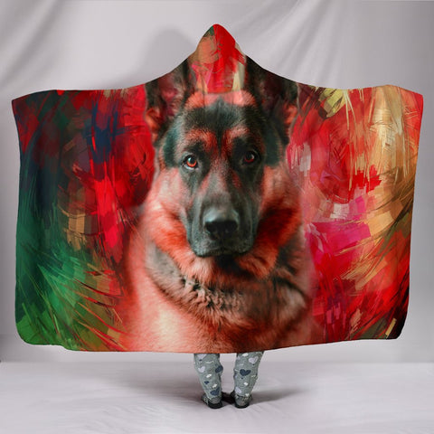 Amazing German Shepherd Print Hooded Blanket
