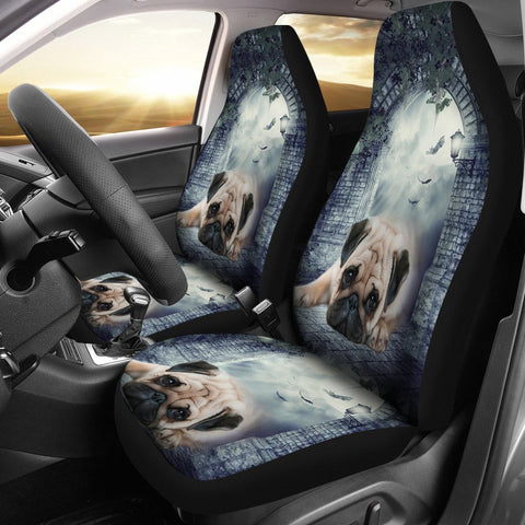 Lovely Pug Dog Print Car Seat Covers