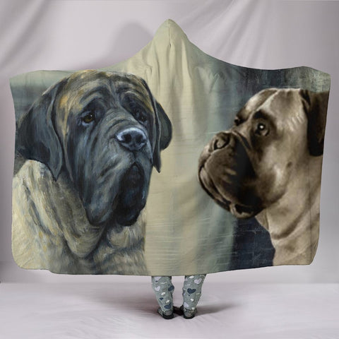 Amazing English Mastiff Dog Print Hooded Blanket