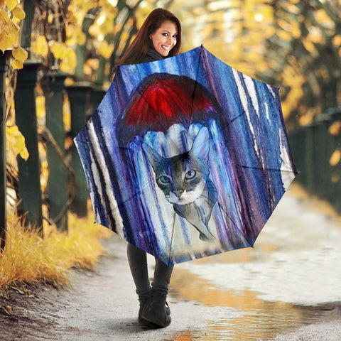 Abyssinian Cat Art Print Umbrellas