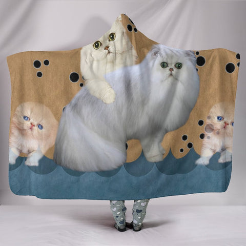 Cute Persian cat Hooded Blanket