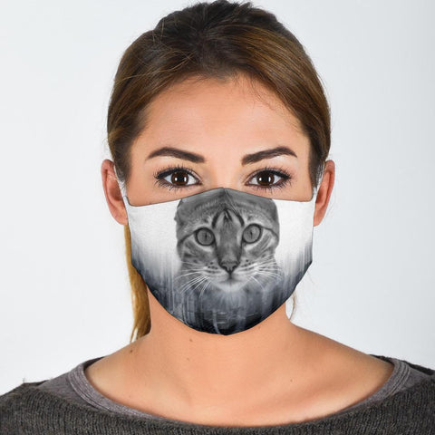 Lovely Bengal Cat Print Face Mask